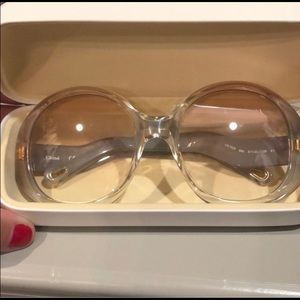 Chloe 57m champagne sunglasses new